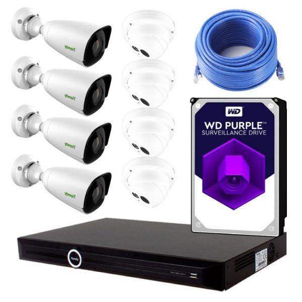 Tiandy 8 Channel 4TB DIY Camera Kit