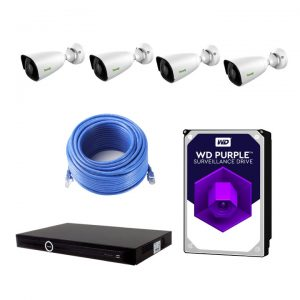 Tiandy 4 Channel 2TB DIY Surveillance Camera Kit