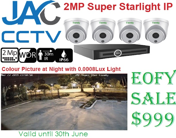 EOFY Facebook special 4 Cameras and NVR for under $1000